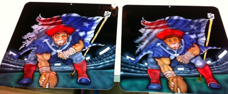 New England Patriots Airbrush Panels