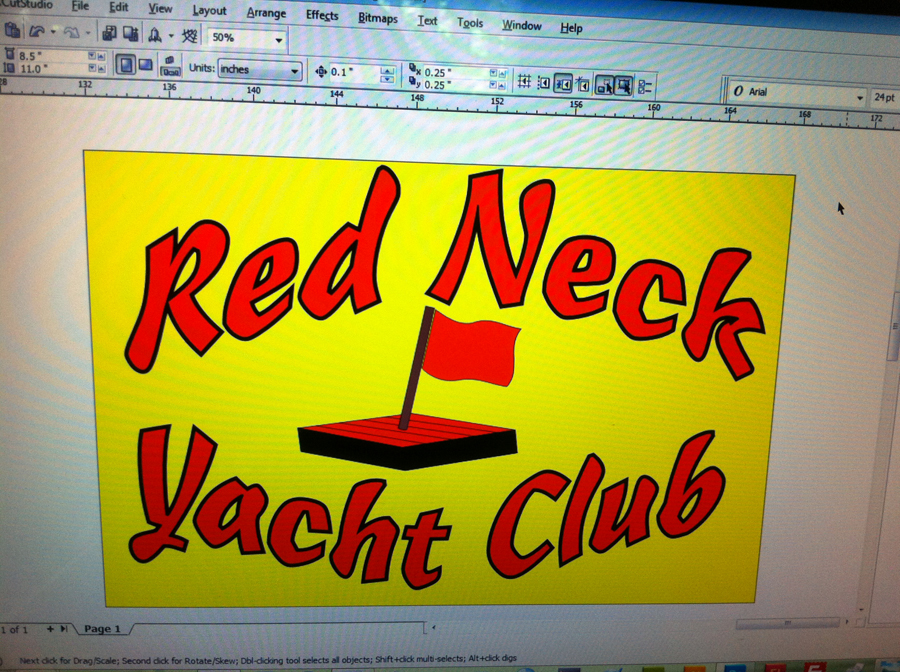 Design for Red Neck Yacht Club Logo Design Prior to approval